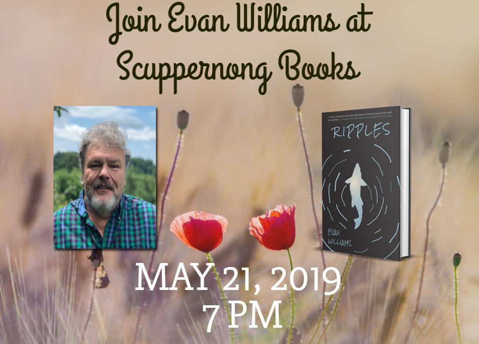 Join Evan Williams at Scuppernong Books on May 21